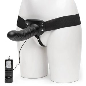 Lovehoney Perfect Partner Unisex Hollow 10 Function Vibrating Strap-On 8 Inch