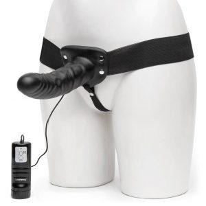 Lovehoney Perfect Partner Unisex Hollow Vibrating Strap-On 8 Inch